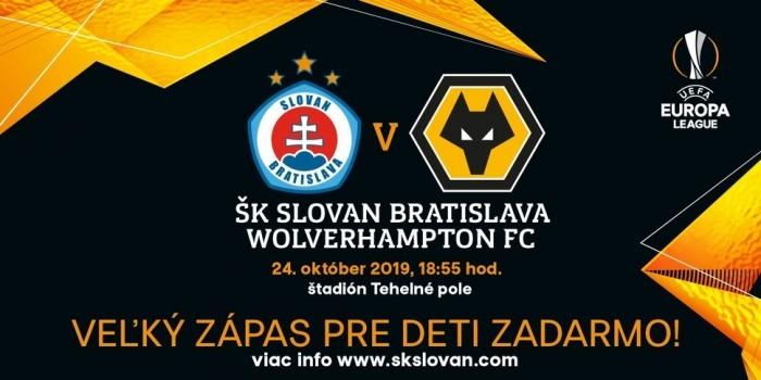 Deti na zápase EL Slovan-Wolverhampton