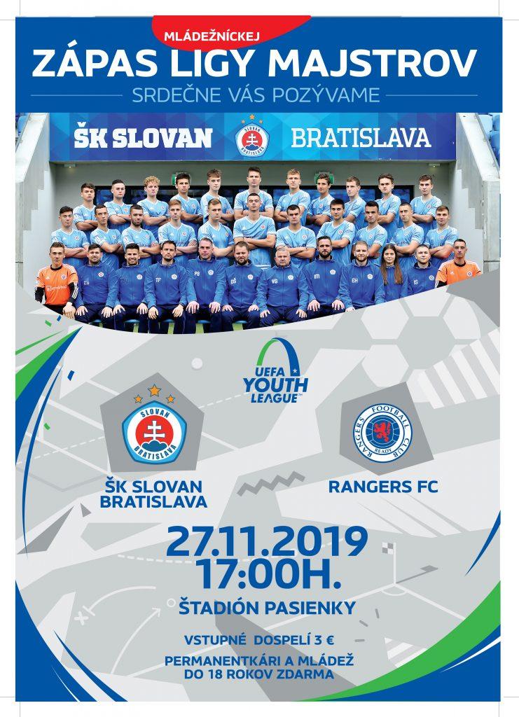 "Slovan BA ""U19"" – Glasgow Rangers ""U19"" – UEFA Yout League"