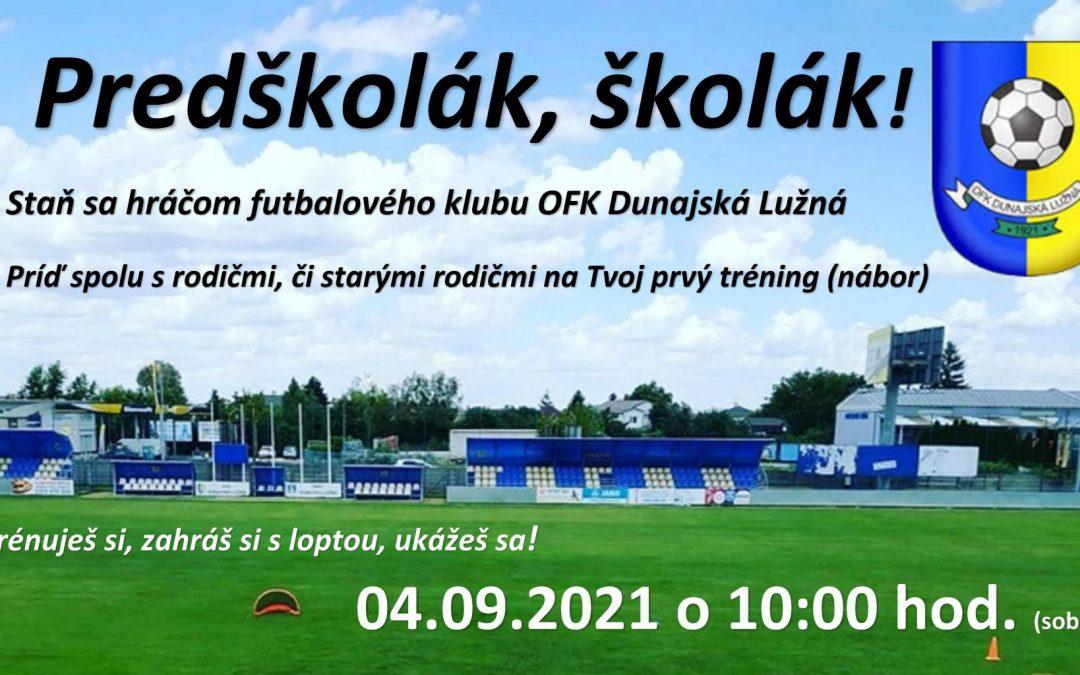 Nábor nových futbalistov a futbalistiek do OFK Dunajská Lužná